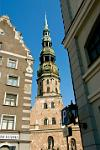Riga old town, St. Peter's Church
