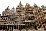 pictures of Belgium - Antwerp - houses of the Guilds, Town Square, Grote Markt