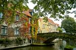 Pictures of Belgium - Bruges - bridge over the Groenerei