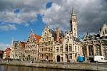 Pictures of Belgium - Ghent - Guild Houses on the Graslei and the Koornlei