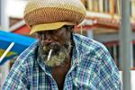 Rasta vibrations, man with a Rasta hat, Belize City