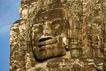faces on the Bayon temple, Angkor Thom