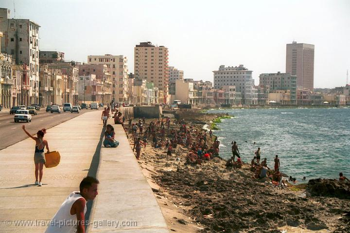 the Malecon, the boulevard in Havana