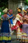 women in traditional dress, Havana