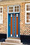 historic house, decorated door, Ribe