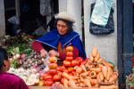 Canari woman selling vegetables