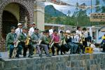fanfare band at a fiesta in Peguche village