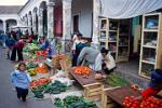 vegetable stalls, Saturday is the busiest market day