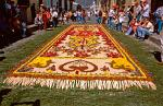 Semana Santa flower carpet, Antigua, Guatemala