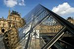 the Pyramid at the Louvre (by architect Ieoh Ming Pei)