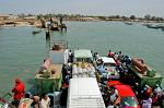 ferry crossing the mouth of the Gambia River at Banjul