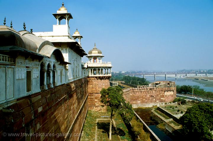 Agra Fort and the Yamuna River
