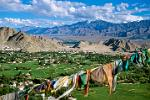 the valley of Leh, prayer flags