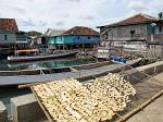 bananas drying on a rack, Sumbawa Besar