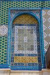 intricate mosaic of the Dome of the Rock