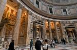 inside the Pantheon, a Roman temple