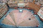 the Piazza del Campo from the Torre del Mangia
