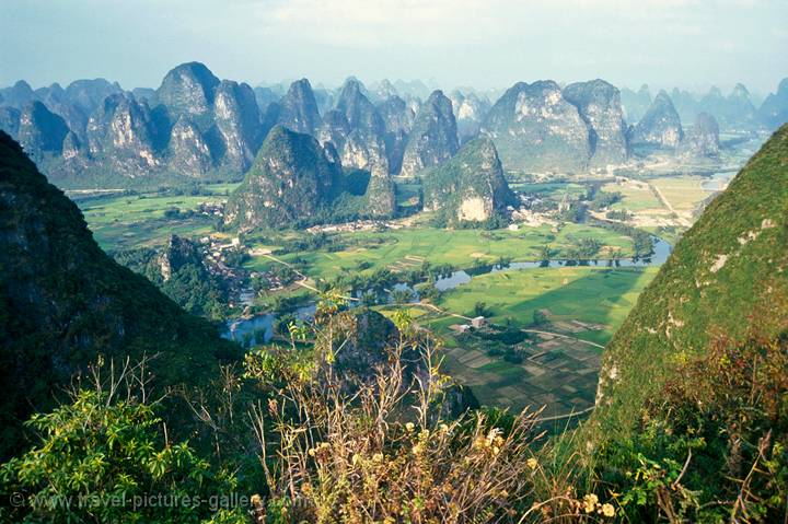 Li River limestone hills in Southern China