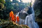 youngs monks at Kuang Si Falls