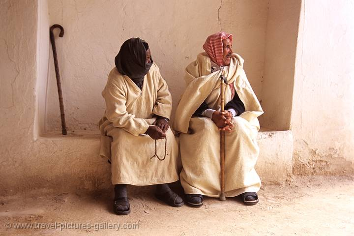 Ghadames, two men resting