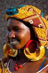 Peul (Fulani) girl with huge earrings