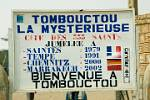 the town sign of Timbuktu (Tomboctou in French)