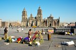the Zocalo with the Catedral Metropilitana (Cathedral)