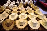 traditional hats at the market