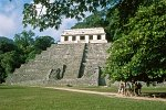 Temple of the Inscriptions, Maya city Palenque, Chiapas state