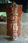stele at the museum, Mayan art, sculpture
