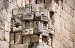 sculpture at the Mayan site Uxmal
