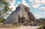 Uxmal, Pyramid or House of the Magician, Maya architrecture