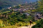 the village of Khari Khola in the valley of the Dudh Kosi River