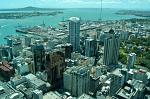 the modern city centre and Auckland harbour