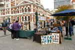 market stalls, Cathedral Square