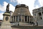 the Beehive, the New Zealand Parliament Building