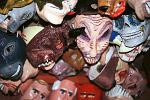 masks at a local market, Granada