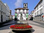 Ponta Delgada, square and town hall, São Miguel