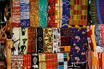 colourful textiles on display