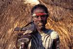 Omo Valley, Dus village, Karo tribe man and his gun