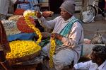 flower garland seller