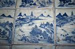 Cochin (Kochi) - blue chinese tiles at the Synagogue, Fort Cochin