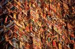 colourful sculptures on a Hindu temple