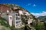 Ganden Monastery lies 38 km northeast of Lhasa