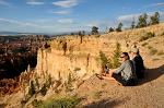 enjoying the views along the Rim Trail, Bryce Canyon National Park