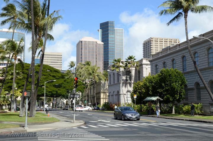 Central Bussiness District, downtown Honolulu