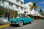 Art Deco and vintage cars on Ocean Drive, Miami Beach