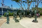 National Salute to Bob Hope and the military statue, Embarcadero