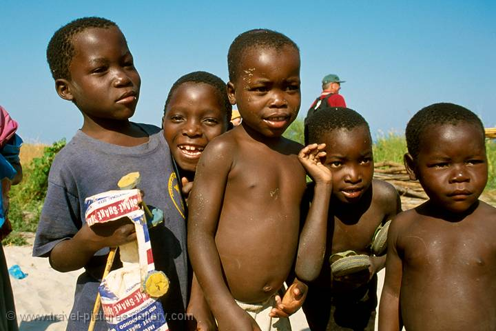 kids on Lake Malawi