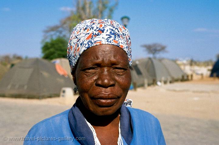 local lady at Etosha